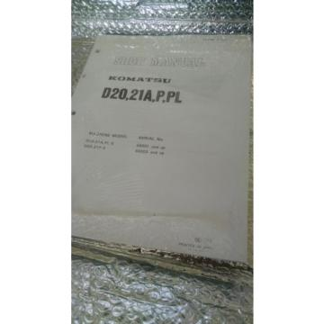 MANUAL FOR KOMATSU D20 BULL DOZER TRACK LOADER