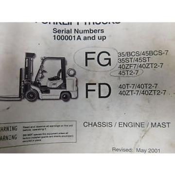 Komatsu CX Series FG FD Parts Manual Service Repair Maintenance Book (E33-2227)