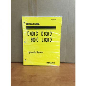 Komatsu D600 C D600 D  600C L600D Hydraulic System Service Repair  Shop Manual