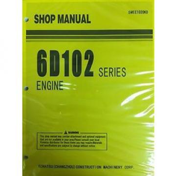 Komatsu 6D102 Series Engine Factory Shop Service Repair Manual