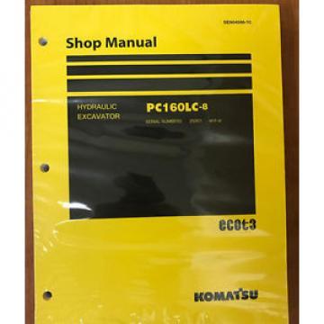 Komatsu Service PC160LC-8 Manual Shop Repair