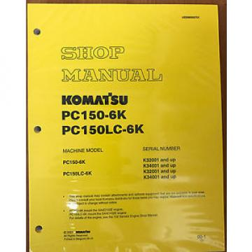 Komatsu Service PC150-6K Shop Repair Manual NEW