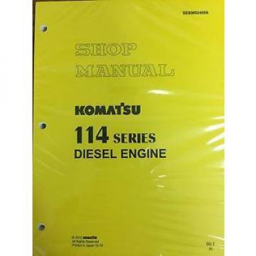 Komatsu 114 Series Engine Factory Shop Service Repair Manual