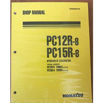 Komatsu Service PC12R-8, PC15R-8 Shop Manual NEW