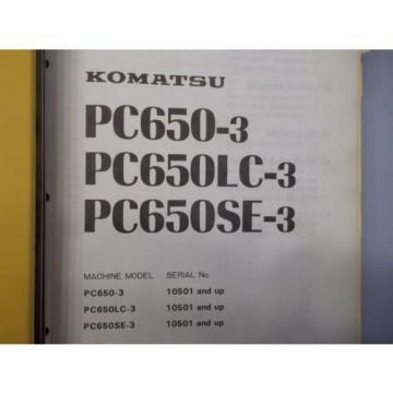 Komatsu PC650-3 PC650LC-3 PC650SE-3 excavator service shop manual