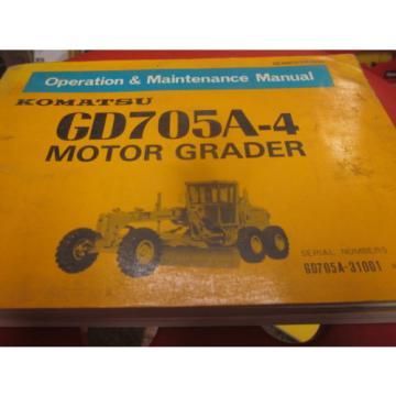 Komatsu GD705A-4 Motor Grader Operation & Maintenance Manual