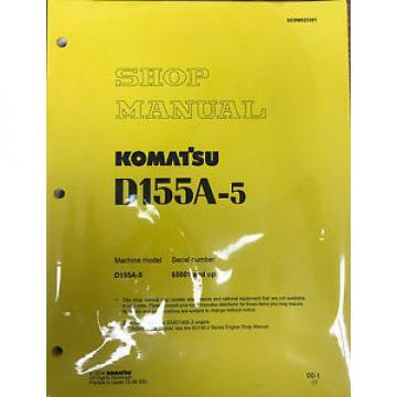 Komatsu D155A-5 Service Repair Workshop Printed Manual