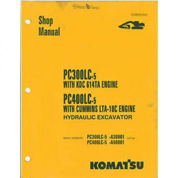 Komatsu PC300LC-5 PC400LC-5 Excavator Shop Manual