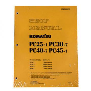 Komatsu Service PC25-1/PC30-7/PC40-7/PC45-1 Shop Manual