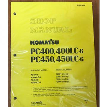 Komatsu PC400-6,PC400LC-6,PC450-6,PC450LC-6 Excavator Shop Repair Service Manual