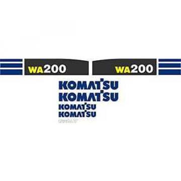 Komatsu Wheel Loader WA200 - Decal Graphics Set