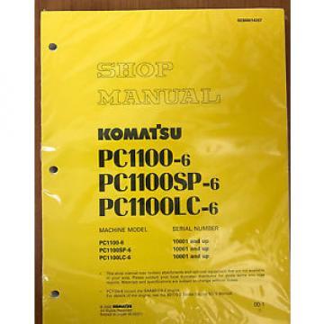 Komatsu Service PC1100-6, PC1100LC-6, PC1100SP-6 Manual
