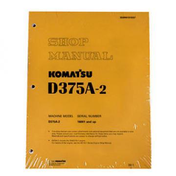 Komatsu D375A-2 Bulldozer Service Repair Workshop Printed Manual