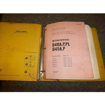 Komatsu D45A-1 D45P-1 Bulldozer Dozer Shovel Shop Service Repair Manual 1801-Up