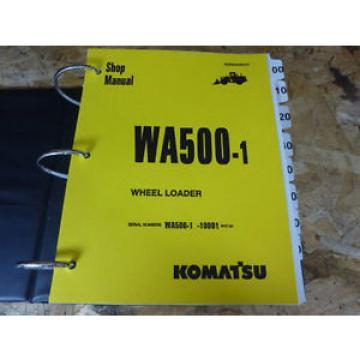 Komatsu WA500-1 Wheel Loader Shop Service Manual