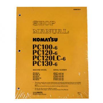 Komatsu Service PC120LC-6, PC130-6 Shop Manual NEW