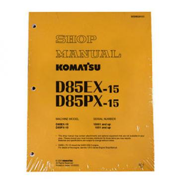 Komatsu D85EX-15, D85PX-15 Service Repair Printed Manual