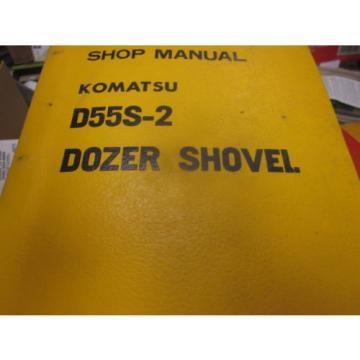 Komatsu D55S-2 Dozer Shovel Repair Shop Manual