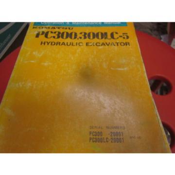 Komatsu PC300 PC300LC-5 Excavator Operation & Maintenance Manual 1989