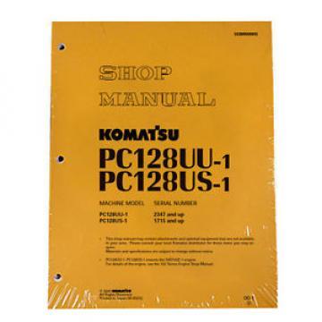Komatsu Service PC128US-1, PC128UU-1 Shop Manual Book
