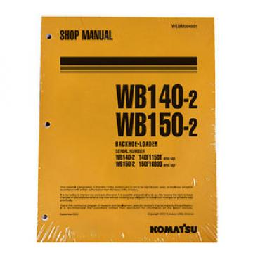 Komatsu Service WB140-2, WB150-2 Backhoe Shop Manual