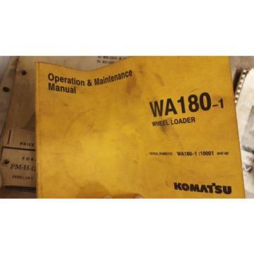 Komatsu WA180-1 Wheel Loader Operation & Maintenance Manual