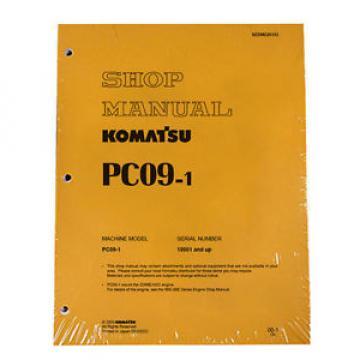 Komatsu Service PC09-1 Shop Manual Repair Book NEW