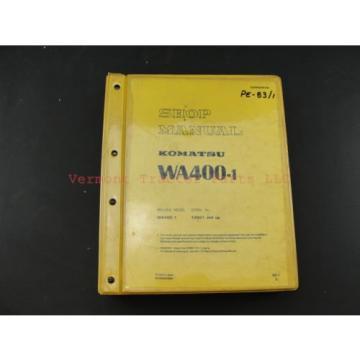 Komatsu WA400-1 wheel Loader service shop repair manual SEBM04240106