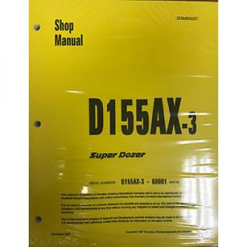 Komatsu D155AX-3 Series Dozer Service Shop Repair Printed Manual