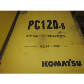 Komatsu PC120-6 Hydraulic Excavator Parts Book Manual
