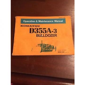 Komatsu Operation & Maintenance Manual for D355A-3 Bulldozer