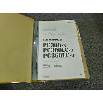 Komatsu PC300-3 PC300LC-3 PC360LC-3 Excavator Shop Service Repair Manual