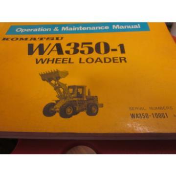 Komatsu WA350-1 Wheel Loader Operation & Maintenance Manual 10001-Up
