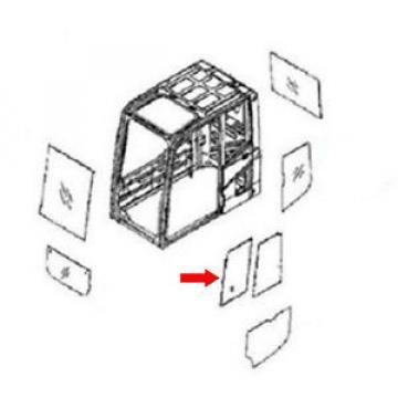 20Y-54-35831 Front Door Slider Glass Fits Komatsu Excavator PC210-6K PC120-6