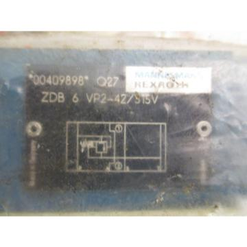 Mannesmann China Germany Rexroth ZDB 6 VP2-42/315V Hydraulic Pressure Relief Sandwich Valve