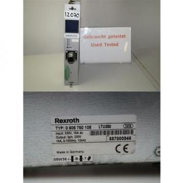 Rexroth Russia Italy 0608750108 LTU350 servo amplifier 0 608 750 108