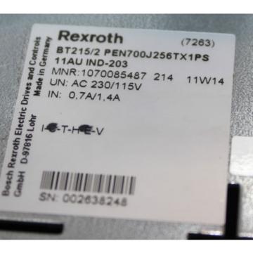 BOSCH Canada Greece Rexroth Bedientafel BT215/2 PEN700J246TX1PS