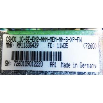 Rexroth India Germany CSH01.1C-SE-EN2-NNN-MEM-NN-S-XP-FW  R911335439 *used*