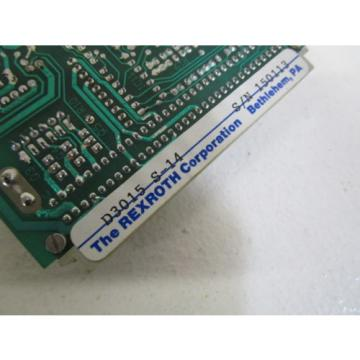 REXROTH India Singapore CARD D3015 *NEW NO BOX*